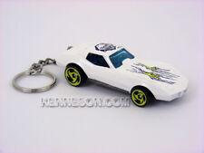 Custom Keychain Chevrolet Corvette Stingray Street Beast Series White
