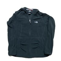 The North Face Full Zip Fleece Hooded Jacket Black Women's Small