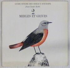 Guide sonore des oiseaux d'Europe 45 tours Jean-Claude Roché Volume 2