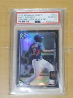 2015 Bowman Chrome Asia Black Refractor Amed Rosario RC Rookie PSA 10