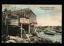 A.P.I. ASIAN AMERICANA NEW MONTEREY, Cal. CHINESE FISHING VILLAGE C.1908