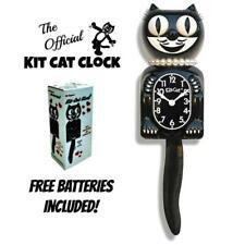 """Clásico Mujer Kit Gato Reloj 15.5"""" Negro Kit-Cat Klock Nuevo Gratis Batería Eeuu"""