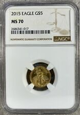 2015 G$5 Gold American Eagle NGC MS70 (1017)