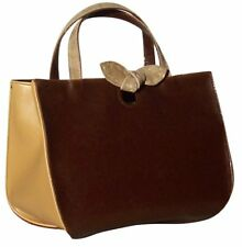 NEW Woman Handbag Purse Brown Beige 1420 Shoulder bag made in italy