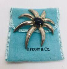 Tiffany & Co. Sterling Silver 18k Gold Black Onyx Fireworks XL Large Pin