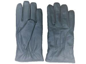 Men's GENUINE SHEEPSKIN soft leather winter gloves w/ fleece lining  S- 2XL