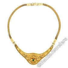 Collar de joyería naturales esmeralda