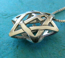 Star of David With Cross necklace, silver Jewish Christian Messianic pendant,