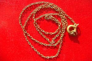 Old vintage handmade bronze 1 mm Chain Necklace