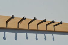 6 x Cast Iron Spike / Nail Style Industrial Coat Hooks