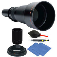 Vivitar 650-1300mm f/8-16 Telephoto Lens for Canon EOS 70D Camera + 2X Converter
