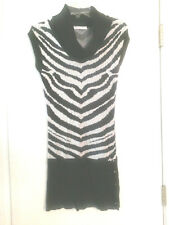 05bec225d4c CHARLOTTE RUSSE Zebra Stripe Sweater Dress Stretch Bodycon SHORT Women s  Size S