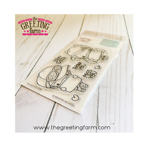 QUARANTINE MESSAGES-The Greeting Farm Clear Stamp-Stamping Craft-Anya & Ian