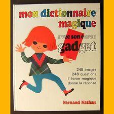 MON DICTIONNAIRE MAGIQUE avec son écran gadget Jean Petrus Henri Mercier 1978