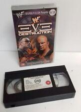 VHS-WWE WWF SILVER VISION vigilia della distruzione 2000 Steve Austin THE ROCK WWF
