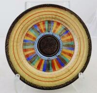 "Antique Japanese Kutani 1000 Faces Plate 7.5"" Diameter Gold"