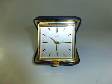 Vintage Swiss ANGELUS 15 Jewels Folding Travel Alarm Clock 8 Day Fully Serviced