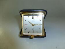 Vintage Swiss ANGELUS 15 Jewels Folding Travel Alarm Clock 8 Day Fully Serviced