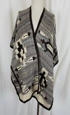 Polo Ralph Lauren Alpaca Knit Wrap Poncho Shawl Sweater Jacket Womens M/L Aztec