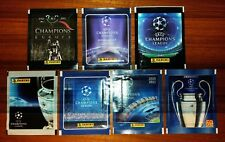 LOTTO 7 BUSTINE PACKETS FIGURINE UEFA CHAMPIONS LEAGUE PANINI DAL 2005 AL 2012