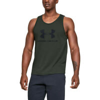 Under Armour Mens Sportstyle Logo Tank Top - Green Sports Gym Breathable