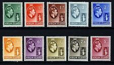 VIRGIN ISLANDS King George VI 1938 Definitive Part Set SG 110 to SG 119 MINT