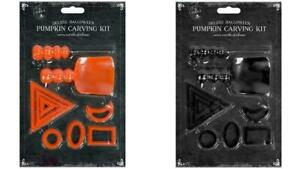 Deluxe Halloween Pumpkin Carving Kit 9 Piece Tools Stencils Scoops Cutter New