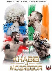 Khabib vs McGregor 4LUVofMMA Poster new MMA wall art UFC Superfight