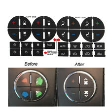 Dashboard AC Button Repair Kit PVC Decal Stickers for Chevy GMC Chevrolet Buick
