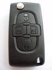 Reemplazo 4 Botón Voltear Llavero Estuche Para Peugeot 1007 807 remoto nuevo caso