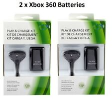 (2 Pack) For XBox 360 Charge and Play Kit Rechargeable Battery & Charging Cable