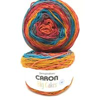 2 New Skeins Caron Big Cakes Acrylic Knitting Yarn 10.5 oz ea/603 yds ea