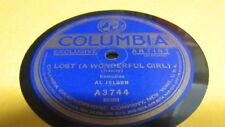 AL JOLSON COLUMBIA 78 RPM RECORD 3744 LOST (A WONDERFUL GIRL)