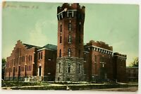 Postcard Oswego NY Armory Building Tower View New York 1900's 1910