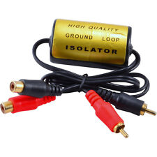 RCA Audio Noise Filter Suppressor Ground Loop Isolator for Car and Home SterY WH