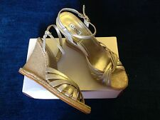 Awesome Alfani silver and jute wedges  size  10  M