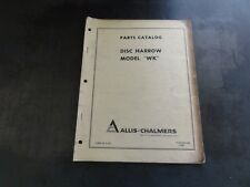 Allis Chalmers Model Wk Disc Harrow Parts Catalog Manual