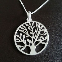 Tree of Life Necklace - 925 sterling silver - knowledge gift pendant charm