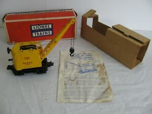 Vintage Lionel Trains O/O-27 Operating Self Propelled Burrow Crane #3360 EX