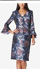 TAHARI BY ARTHUR LEVINE BROCADE SKIRT SUIT/SIZE 14/NEW WITH TAG/RETAIL
