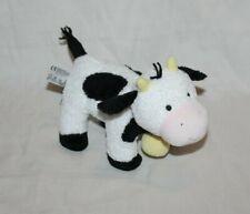 "RARE Cow Eden Toy Stuffed Plush 10"" Black White Moo Barn Farm Bell CUTE Animal"