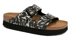 PAPILLIO Birkenstock Sandals ARIZONA LEO black Platform narrow Leopard NEW
