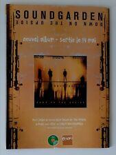 Publicité advert album concert advertising SOUNDGARDEN 1996 down on the upside