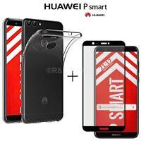 Coque pour Huawei P Smart Étui TPU +Film Verre Trempé 3D Courbé Totale