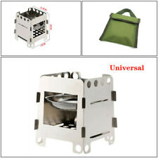 Outdoor Camping Home Stove Portable Folding Stainless Steel Picnic Wood Stove