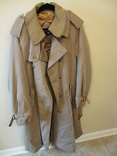 Charing Cross Lined Trench Coat - Mens Size R42 - Tan - Wool