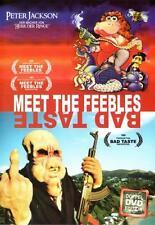 Meet the Feebles & Bad Taste ( Kultfilm) von Peter Jackson ( Herr der Ringe )NEU