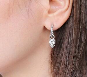 Judith Ripka Sterling Silver 925 CZ Diamonique Dangle Earrings