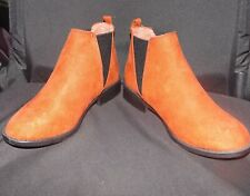 UK Size 3 Sporto Primark Red Slip On Ankle Boots With Small Heel