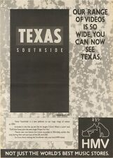2/12/89Pgn10 Advert: Texas 'southside' The New Video In Hmv Stores Now 15x11